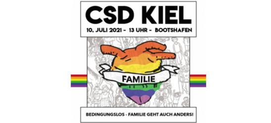 CSD Kiel 2021 Bedingungslos - Familie geht auch anders!