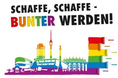 CSD Stuttgart 2021 Schaffe Schaffe bunter werden