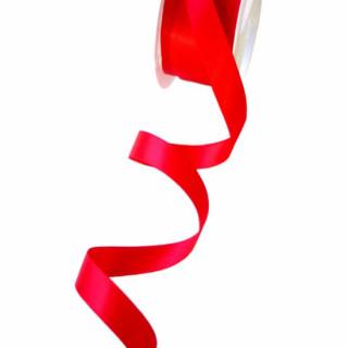 Satinband glühendes Rot 15mm Stoffband