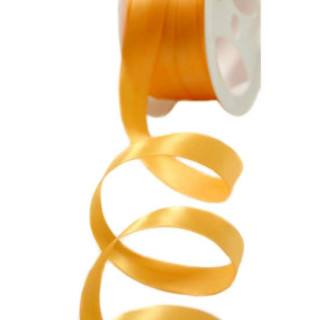 Satinband Orange-Gold 15mm Stoffband