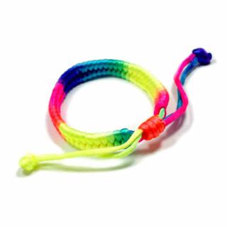 Neon-Regenbogenfarbenes Stoff-Armband Vertikal