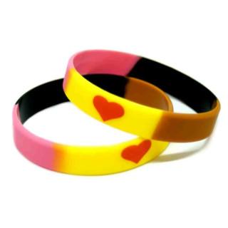 Silikon-Armband im Heart in Gold-Design