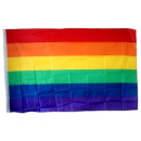 100 Regenbogenfahnen Flagge 90*150cm PRIDE/ CSD