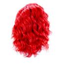 Locken- Bob Kunsthaarperücke (Wig) Schwarz-Rot 35cm