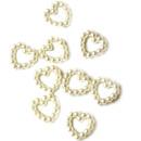 50 Perlen Herz-Konfetti in Weiß 1cm  ♥