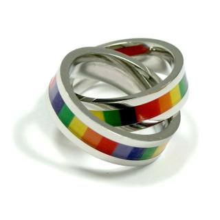 Regenbogen Anhänger 2 Ringe