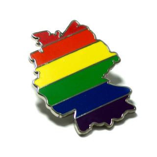 Regenbogen-Flagge Deutschland-Umriss LGBT Pride