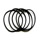 100 Schwarzes Kunststoff Armband dehnbar 6-8cm