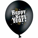 Happy-New-Year! Ballons in Schwarz und Gold