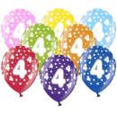 Bunte Ballons 4. Geburtstag mit Zahlen Orange