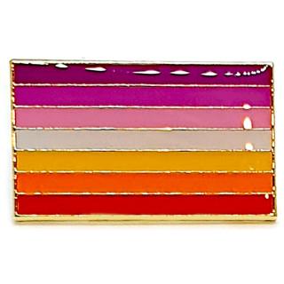 Lesbisch-Flagge Sonne als Rechteck 2,5cm LGBT