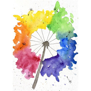 Kathl´s LGBT-Klappkarte Pusteblume 10 x 15cm