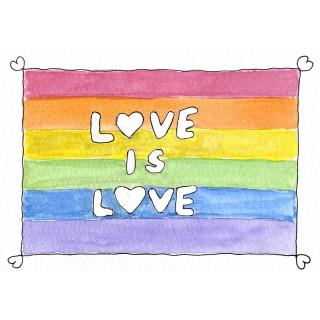 Kathl´s LGBT-Klappkarte LoveIsLove 10 x 15cm