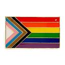 Quasar-Regenbogen-Flagge Pin / Rechteck