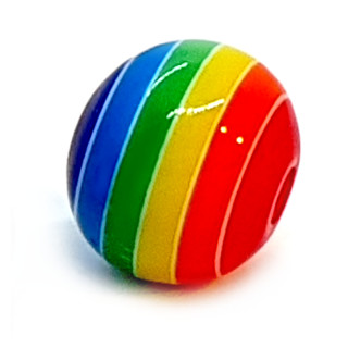 Bunte Regenbogen-Perle 12mm Einzeln