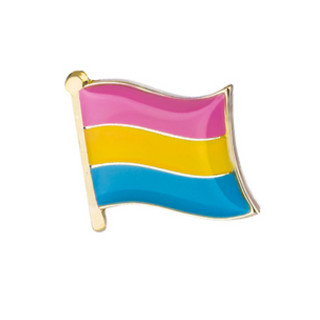 Pansexuell-Flagge mit Butterfly Clip 1,6cm*1,5cm CSD LGBT Gay Pride Stolz Pan