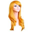 Lange Perücke in Blond 70cm inkl. Haarnetz / Kunsthaar