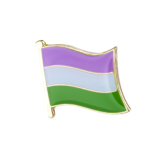 Genderqueer-Flagge mit Butterfly Clip 1,6cm*1,5cm CSD LGBT Gay Pride Stolz