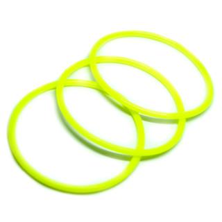 Neongelbes Gummi Armband sehr dehnbar 6,5-16cm