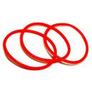 Rotes Gummi Armband sehr dehnbar 6,5-16cm