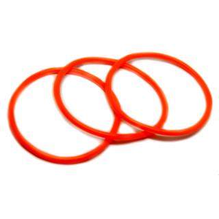 Neon-Orangenes Armband sehr dehnbar 6,5-16cm