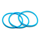 Blaues Gummi Armband sehr dehnbar 6,5-16cm