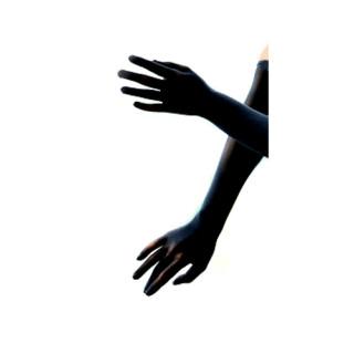 Nahtlose Nylon Handschuhe stretch Schwarz Kostüm Queen