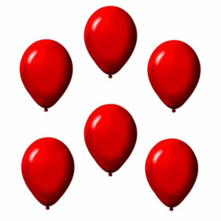 6 Ballons in Rot Einfarbig im Set