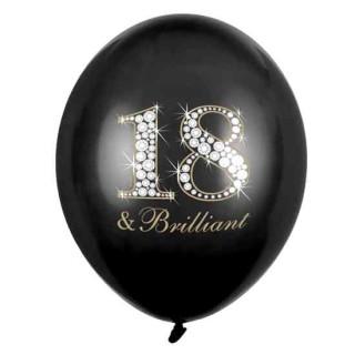 Ballons 18 & Brilliant zum 18. Geburtstag