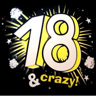 5 Ballons 18. Geburtstag 18 & Crazy