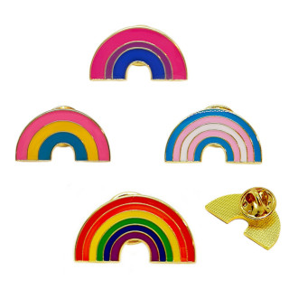 Regenbogen-Pins in verschiedenen Pride Farben LGBT