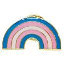 Regenbogen-Pins in Trans* Farben LGBT