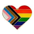 Neues Regenbogen-Herz mit Butterfly Clip 2,5cm Pride