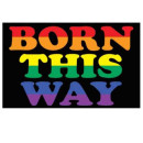 "Pride-Fahne ""Born this Way"" 60*90cm"