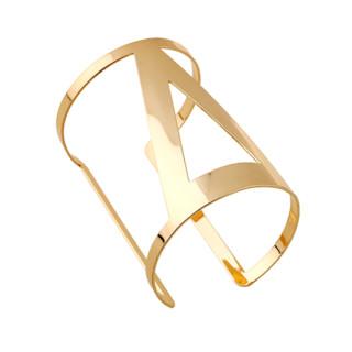 Armreif Sir in Gold/ Goldfarbener Ring-Armreif
