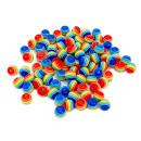 100 Bunte Regenbogen-Perle 6mm für Halsketten