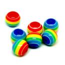 50 Bunte Regenbogen-Perle 10mm Acryl für Halsketten