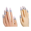 Nagelhandschuhe Rachel in Rosa+Glitter