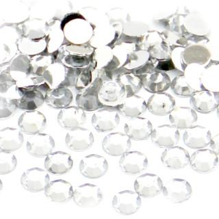 100 Strasssteine Rund 3mm Cristal-Farben Holo Glitter