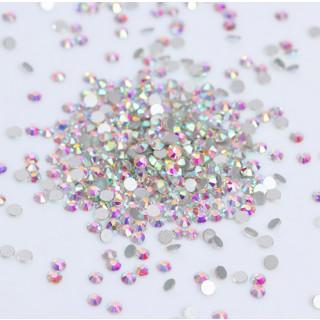 100 Strasssteine Rund 5mm N22 Cristal-Bunt Holo