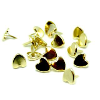 20 Herz-Klemmen Goldfarben 7mm x 8mm für Brief