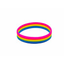 Pansexuell-Armband Horizontal/Pink-Gelb-Blau12mm