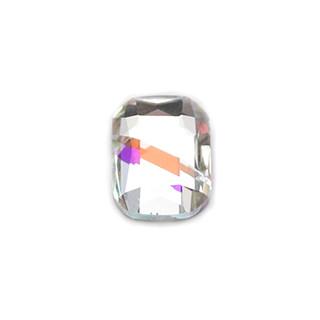 3D Strasssteine Viereck 4 x 6mm Cristal-Weiß Holo