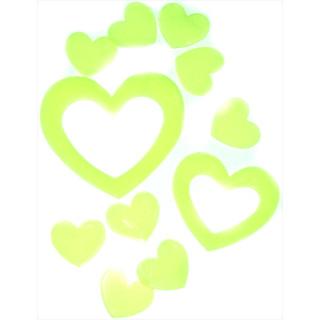 12 Leuchtende Herz Wanddekoration